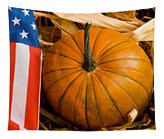 Patriotic American Pumpkin Tapestry