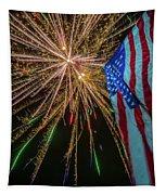 Patriotic Fireworks Tapestry