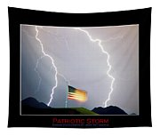 Patriotic Storm - Poster Print Tapestry