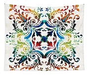 Pattern Art - Color Fusion Design 7 By Sharon Cummings Tapestry