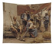 Paying The Harvesters Tapestry