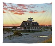 Oregon Inlet Life Saving Station 2687 Pano Signed Tapestry