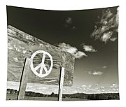 Peace Sepia Tapestry