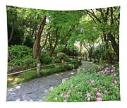 Peaceful Garden Path Tapestry