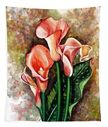 Peach Callas Tapestry