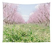 Peach Orchard 4 Tapestry