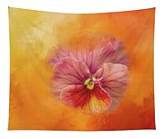 Peach Pansy Tapestry