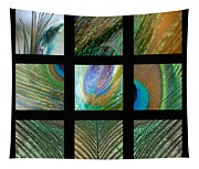 Peacock Feather Mosaic Tapestry