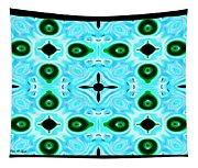 Peacock Feathers Abstract Tapestry