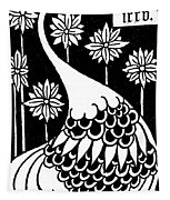 Peacock Illustration From Le Morte D'arthur By Thomas Malory Tapestry