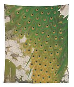 Peacocks And Cherry Tree Tapestry