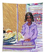Pearl At The Clothes Press Tapestry