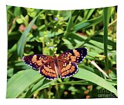Pearl Crescent Butterfly Tapestry