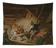 Peasant Brawl In A Tavern Tapestry