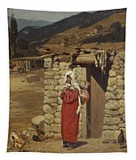 Peasant Carrying Water Tapestry