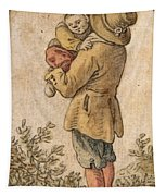 Peasant With Child Tapestry