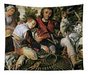 Peasants At The Market Tapestry