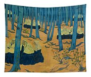 Peasants Gathered In A Sacred Wood_ Tapestry