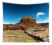 Pecos Ruins New Mexico Tapestry