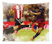 Pedro Rodriguez Kicks The Ball  Tapestry