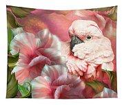Peek A Boo Cockatoo Tapestry