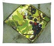 Peeking At Grapes Tapestry