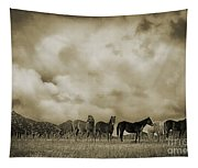 Peeples Valley Horses In Sepia Tapestry
