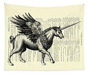 Pegasus Black And White Tapestry