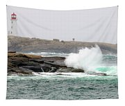 Peggys Cove Lighthouse 6127 Tapestry