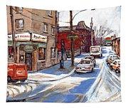 Peintures De Montreal Paintings Petits Formats A Vendre Restaurant Machiavelli Best Original Art   Tapestry