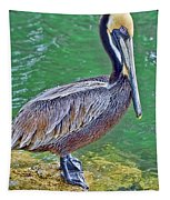Pelican By The Pier Tapestry