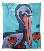 Pelican Poppies 1 Tapestry