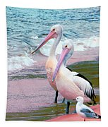 Pelicans At Pearl Beach 5.1 Tapestry