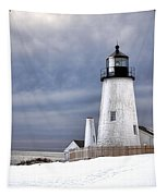 Pemaquid Point Lighthouse In Winter Tapestry
