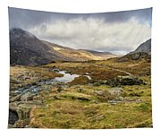 Pen Yr Ole Wen And Tryfan Mountain Tapestry