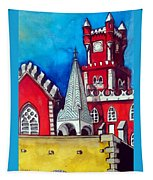 Pena Palace In Portugal Tapestry