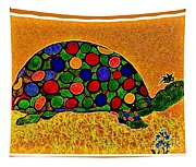 Pencil Sketch And Water Color Turtle Of The Rainbow Tapestry