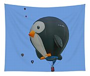 Penguin - Hot Air Balloon - Transparent Tapestry