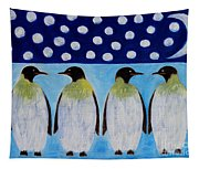 Penguins Talking Tapestry