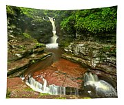Pennsylvania Red Rock Falls Tapestry