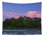 Pensacola Lighthouse Dusk Tapestry