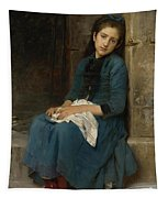 Pensive Girl. Innocence Tapestry