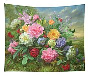 Peonies And Hydrangea Tapestry