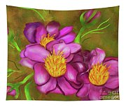 Peonies On Holiday Tapestry