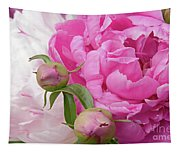 Peony Pair In Pink And White  Tapestry