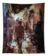 People In Alley Tapestry