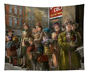 People - People Waiting For The Bus - 1943 Tapestry
