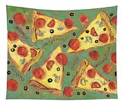 Pepperoni Pizza Tapestry