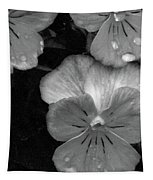Perfectly Pansy 12 - Bw - Water Paper Tapestry