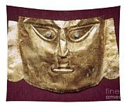 Peru: Chimu Gold Mask Tapestry